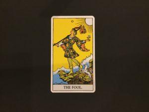 大アルカナの愚者のカード